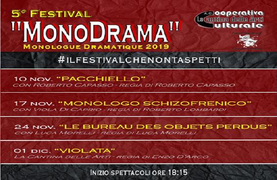 Sala Consilina, apre il sipario la 5^ edizione del festival 'MonoDrama' - StileTV